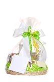 Isolated gift basket Royalty Free Stock Image