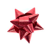 Isolated gift bow. Isolated, red christmas gift bow Stock Images