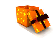 Isolated gift box Stock Images