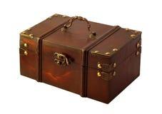 Isolated gift box. Isolated mahagony gift box on white background Royalty Free Stock Image