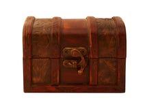 Isolated gift box. Isolated mahogany gift boxover white background Stock Photo