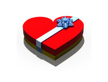 Isolated gift box in form heart royalty free stock photography