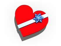 Isolated gift box in form heart stock photography
