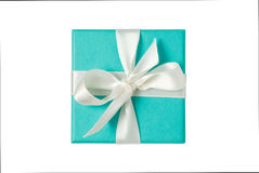 Isolated gift box on white background with path Royalty Free Stock Photography