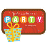 Isolated gift with sign royalty free illustration