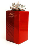 Isolated giftwrap. A gift in red holiday isolated white Royalty Free Stock Photo