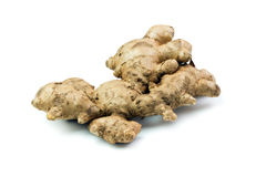 Isolated ginger root Stock Images