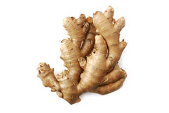 Isolated ginger root Stock Photo