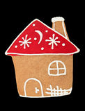 Isolated Gingerbread House Royalty Free Stock Images