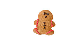 Isolated Gingerbread Man Stock Photography