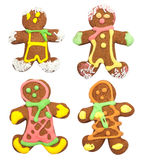 Isolated gingerbread, man on white background Stock Photography