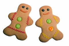 Isolated Gingerbread People Stock Photos