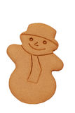 Isolated gingerbread snowman Stock Image