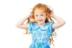 Isolated girl Stock Image