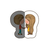 Isolated girl and boy cartoon design Stock Photography