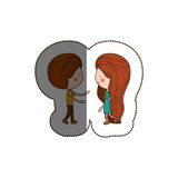 Isolated girl and boy cartoon design Stock Image