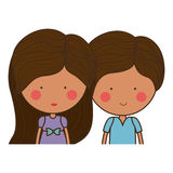 Isolated girl and boy cartoon design. Girl and boy cartoon  icon. Couple relationship family love and romance theme. Isolated design. Vector illustration Royalty Free Stock Images