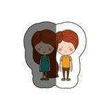 Isolated girl and boy cartoon design. Girl and boy cartoon  icon. Couple relationship family love and romance theme. Isolated design. Vector illustration Royalty Free Stock Image