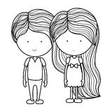Isolated girl and boy cartoon design Royalty Free Stock Photography