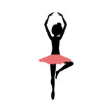 Isolated girl practice ballet design Royalty Free Stock Image