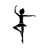 Isolated girl practice ballet design Royalty Free Stock Images