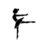 Isolated girl practice ballet design Royalty Free Stock Photo
