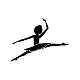 Isolated girl practice ballet design Stock Images