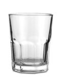 Isolated Glass. A clean, clear, Cristal glass Royalty Free Stock Photos