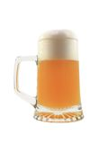 Isolated glass of beer on the white. Background Stock Photos
