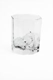 Isolated glass ice Stock Photography