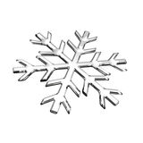 Isolated glass snowflake Royalty Free Stock Photos