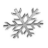 Isolated glass snowflake Stock Photos