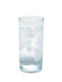 Isolated glass of water with ice. object, beverage. Stock Image