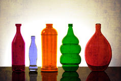 Isolated Glassware Lit from Behind Stock Photo