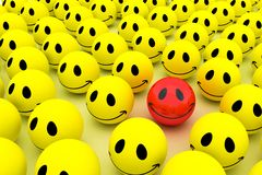 Isolated glossy 3d standard smiling smileys Royalty Free Stock Photo