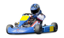 Isolated Go Kart Racer Royalty Free Stock Images