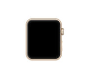 Isolated gold aluminum case smart watch Stock Photo