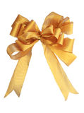 Isolated gold bow Royalty Free Stock Image