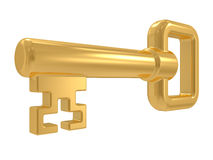 Isolated gold key Stock Photo