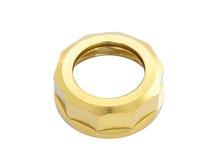 Isolated gold nut on white Stock Photos