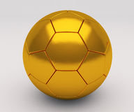 Isolated Gold soccer ball Royalty Free Stock Images