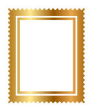 Isolated gold stamp Stock Photography