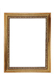 Isolated gold vintage photo frame Stock Photo