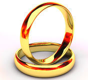 Isolated gold wedding rings Stock Image