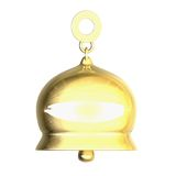 Isolated golden bell xmass (3D) Royalty Free Stock Image