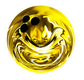 Isolated golden bowling ball Stock Image