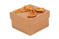 Isolated golden box Stock Image
