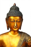 Isolated Golden Buddha on white background Royalty Free Stock Images