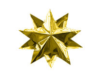 Isolated golden christmas star Stock Photo
