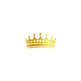 Isolated golden color crown logo on white background, luxury royal sign, jewel vector illustration Royalty Free Stock Photography